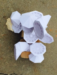 Islamic Geometry Module, paper and wood, 2016.