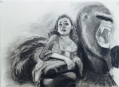 Ultimate Fantasy (King-Kong), charcoal, 2016.